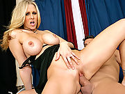 Julia Ann fucks another big dick instead of her husband